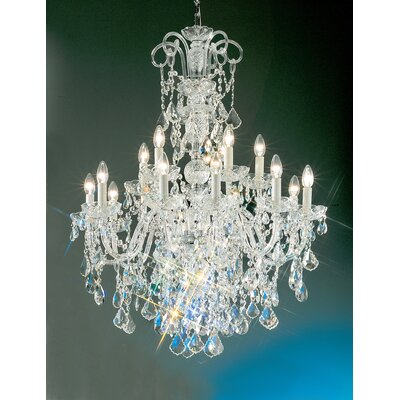 Bohemia 15-Light Crystal Chandelier Finish: 24K Gold Plate, Crystal Type: Crystalique