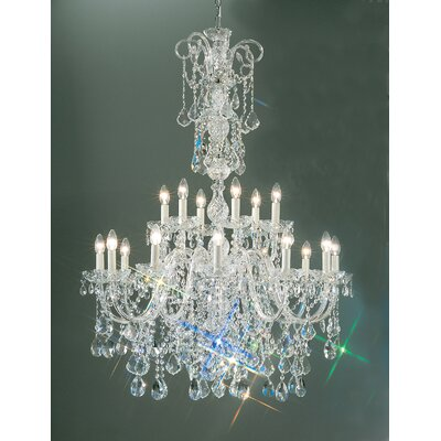 Bohemia 18-Light Crystal Chandelier Crystal Type: Crystalique, Finish: 24K Gold Plate