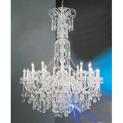 Bohemia 30-Light Crystal Chandelier Crystal Type: Crystalique, Finish: 24K Gold Plate