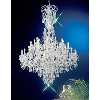 Bohemia 40-Light Crystal Chandelier Crystal Type: Swarovski Elements, Finish: 24K Gold Plate