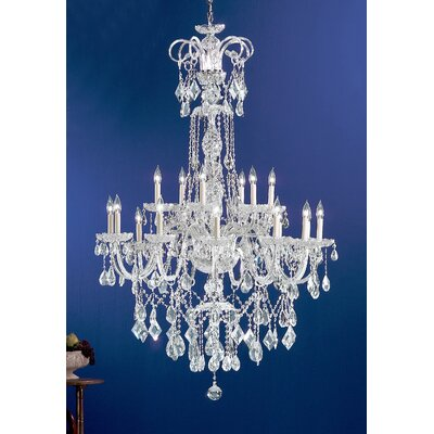 Prague 18-Light Crystal Chandelier Crystal Type: Crystalique