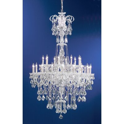 Prague 30-Light Crystal Chandelier Crystal Type: Crystalique