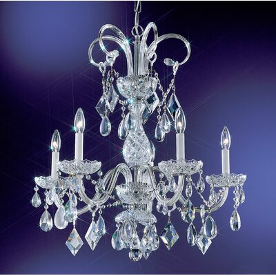 Prague 5-Light Crystal Chandelier Crystal Type: Crystalique