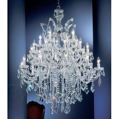 Rialto 25-Light Crystal Chandelier Finish: Chrome