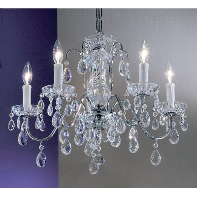 Daniele 5-Light Crystal Chandelier Finish: English Bronze