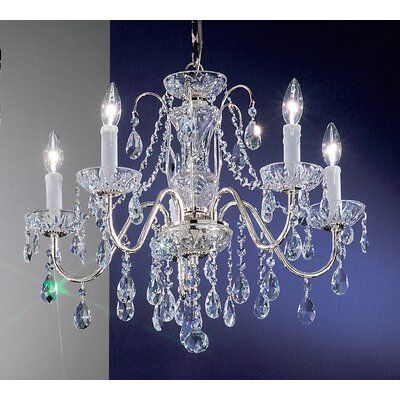 Letitia 5-Light Chain Shaded Crystal Chandelier Finish: Chrome, Crystal Type: Crystalique
