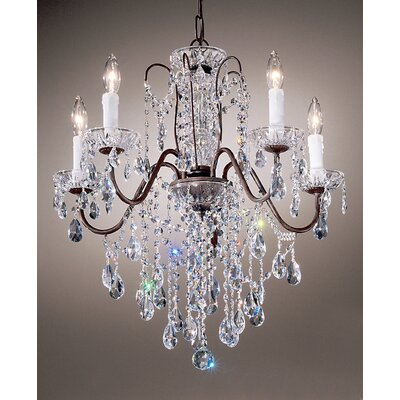 Daniele 5-Light Crystal Chandelier Crystal Type: Crystalique, Finish: English Bronze