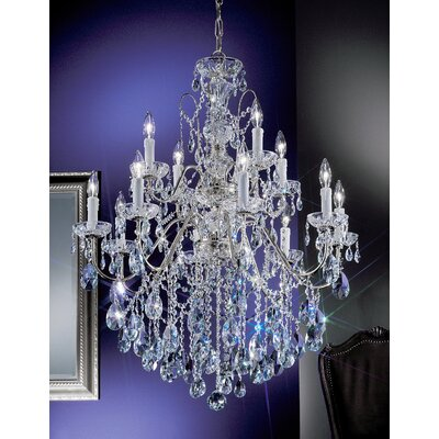 Letitia 12-Light Crystal Chandelier Finish: Chrome, Crystal Type: Crystalique