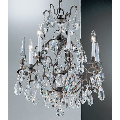 Versailles 4-Light Crystal Chandelier Crystal Type: Swarovski Spectra