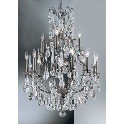 Versailles 13-Light Crystal Chandelier Crystal Type: Crystalique