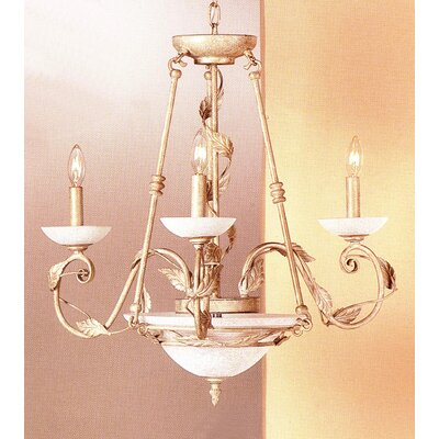 Capri 5-Light Candle-Style Chandelier Finish: Ivory-Gold