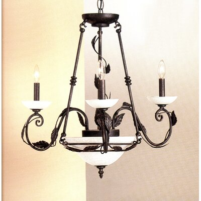 Capri 5-Light Candle-Style Chandelier Finish: Rust-Copper