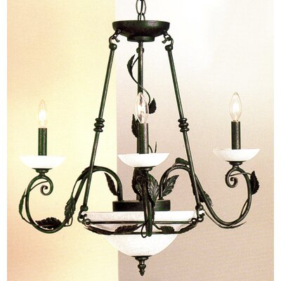 Capri 5-Light Candle-Style Chandelier Finish: Verde-Gold