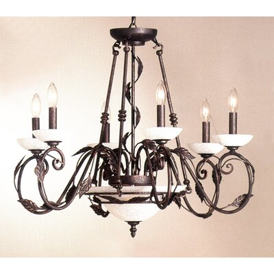 Capri 8-Light Candle-Style Chandelier Finish: Rust-Copper