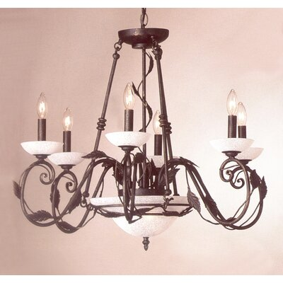 Capri 8-Light Candle-Style Chandelier Finish: Verde-Gold