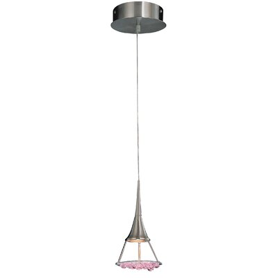 Crystal Lake 1-Light Pendant Crystal Type: Pink