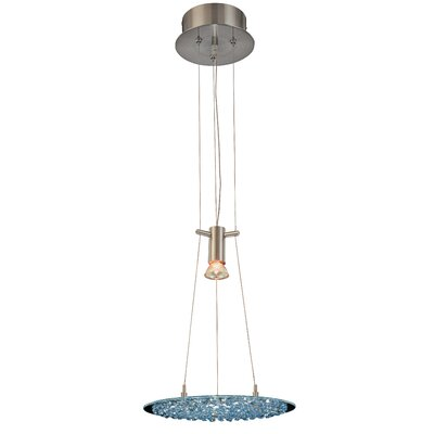 Crystal Lake 1-Light Pendant Crystal Type: Sapphire