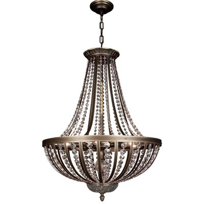 Terragona 6-Light Inverted Pendant Finish: Roman Bronze, Crystal Type: Crystalique Plus