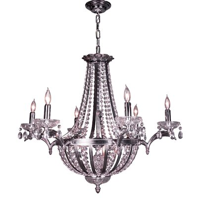 Terragona 16-Light Empire Chandelier Finish: Chrome with Black patina, Crystal Type: Crystalique Plus