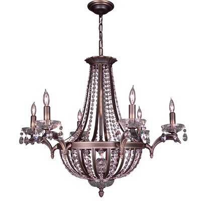 Terragona 16-Light Empire Chandelier Crystal Type: Crystalique Plus, Finish: Roman Bronze
