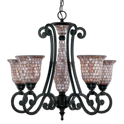 Pearl River 5-Light Shaded Chandelier