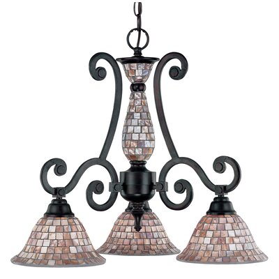 Pearl River 3-Light Shaded Chandelier