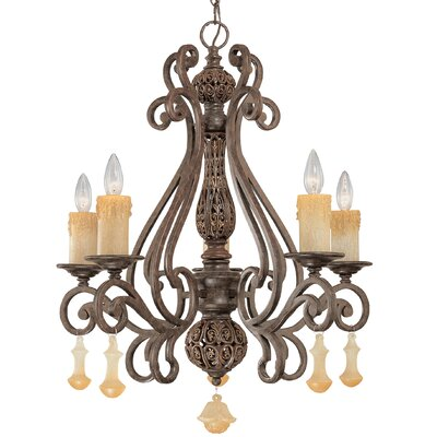 Riviera 5-Light Candle-Style Chandelier