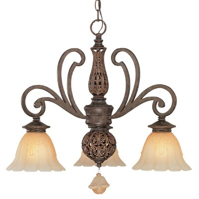 Riviera 3-Light Shaded Chandelier