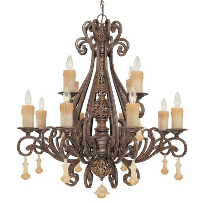 Riviera 12-Light Candle-Style Chandelier