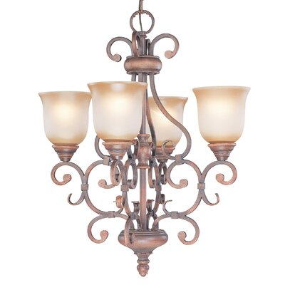 Eagle Pointe 4-Light Shaded Chandelier