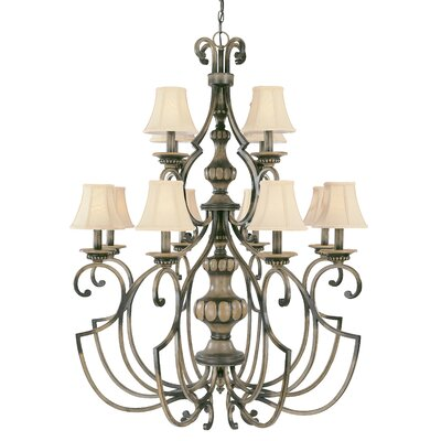 Westchester 12-Light Shaded Chandelier