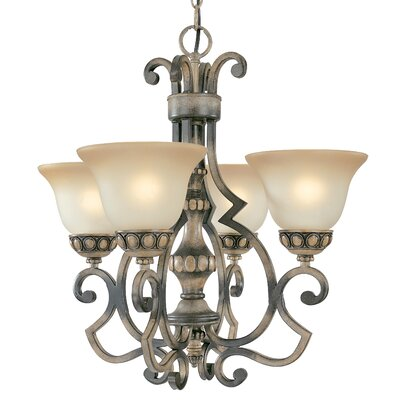 Westchester 4-Light Shaded Chandelier