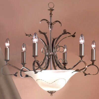 Treviso 9-Light Candle-Style Chandelier Finish: Bronze