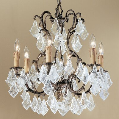 Parisian 6-Light Crystal Chandelier Crystal Type: Italian Rock Amber