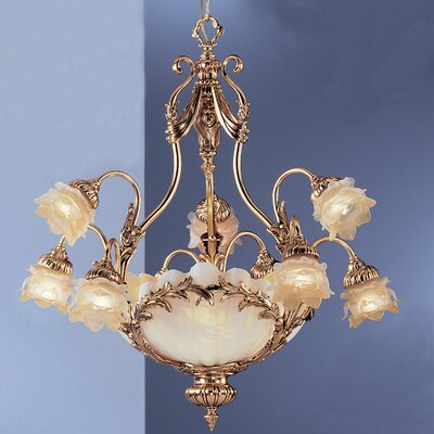 La Paloma 12-Light Shaded Chandelier Finish: Satin Gold