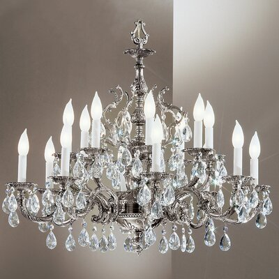 Barcelona 16-Light Crystal Chandelier Finish: Millenium Silver, Crystal Type: Swarovski Spectra