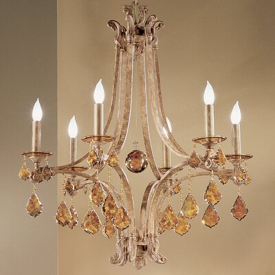 Mediterranean 6-Light Crystal Chandelier
