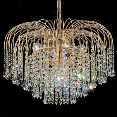Sprays 4-Light Crystal Chandelier Crystal Type: Swarovski Elements Golden Teak