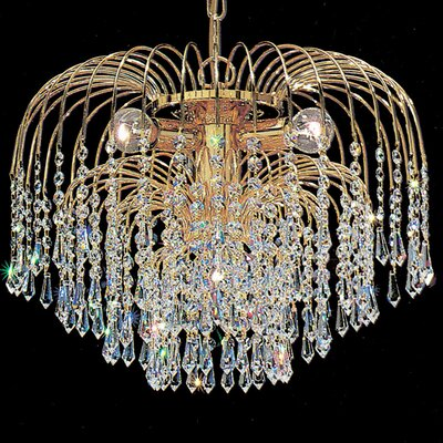 Sprays 4-Light Crystal Chandelier Crystal Type: Swarovski Spectra