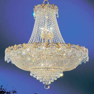 Regency II 11-Light Empire Chandelier Finish: 24k Gold Plate, Crystal Type: Crystalique Plus