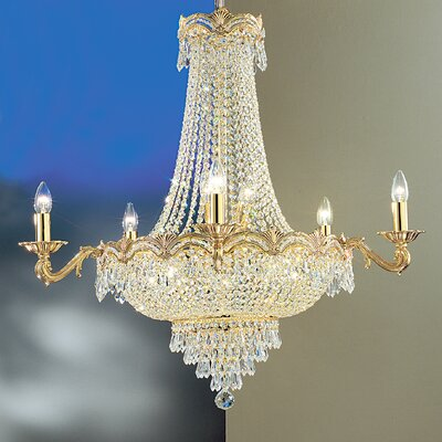 Regency II 13-Light Empire Chandelier Crystal Type: Crystalique Plus, Finish: 24k Gold Plate