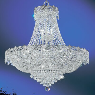 Regency II 11-Light Empire Chandelier Finish: Chrome with Black patina, Crystal Type: Crystalique Plus