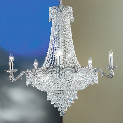 Regency II 13-Light Empire Chandelier Finish: Chrome with Black patina, Crystal Type: Crystalique Plus