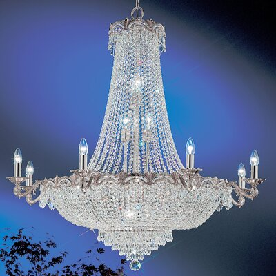 Regency II 20-Light Empire Chandelier Finish: Chrome with Black patina, Crystal Type: Swarovski Elements