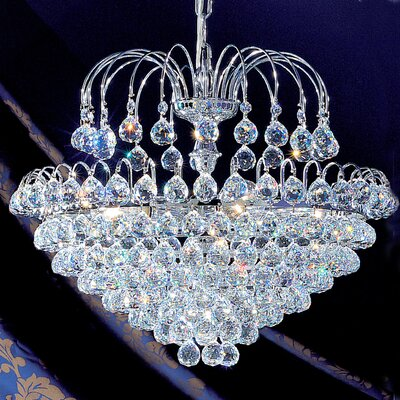 Diamante 7-Light Crystal Chandelier Crystal Type: Swarovski Spectra