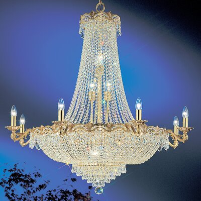 Regency II 20-Light Empire Chandelier Finish: 24k Gold Plate, Crystal Type: Crystalique Plus