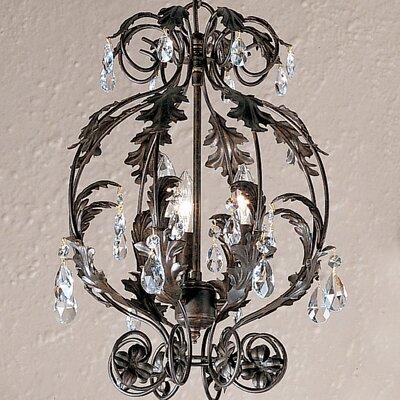 Siena 3-Light Foyer Pendant Crystal Grade: Crystalique
