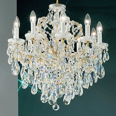Maria Thersea 10-Light Crystal Chandelier Finish: Olde World Gold, Crystal Type: Crystalique