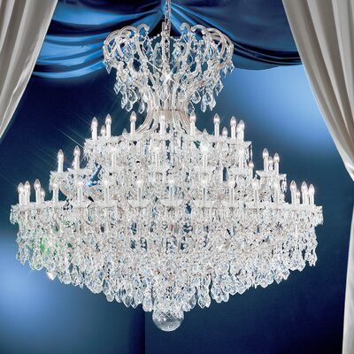 Maria Thersea 72-Light Crystal Chandelier Finish: Chrome, Crystal Type: Crystalique