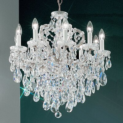 Maria Thersea 10-Light Crystal Chandelier Crystal Type: Swarovski Elements, Finish: Chrome